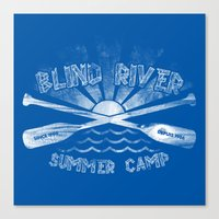 camp Canvas Prints featuring Camp by Blind River