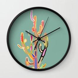 cactus colorful 3 Wall Clock