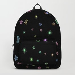 Colored Sparkling Stars Backpack
