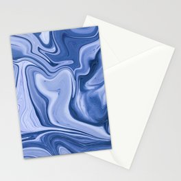 Blue Marble Abstract Stationery Cards