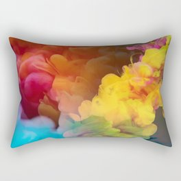 Colorful Smoke Abstract Rectangular Pillow