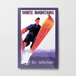 White Mountains in Winter Metal Print