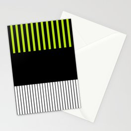 Colour Pop Stripes - Lime Green Stationery Cards