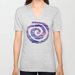Psycho - Stream of Consciousness in Lively Color Flow by annmariescreations Unisex V-Neck