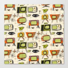 Retro TV Pearl Orange #spaceage Canvas Print