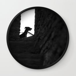 Black Dog Wall Clock