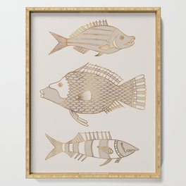 Fantastical Fish 2 - Natural Serving Tray