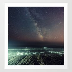 Galactic Beach Art Print