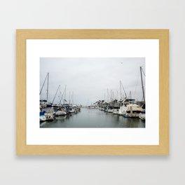 California Harbor Framed Art Print