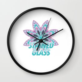 Eat Sleep Stained Glass Repeat Tiffany Glass Coloured Window Gift Wall Clock