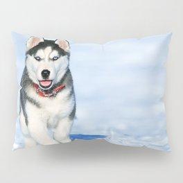 Siberian Husky pup Pillow Sham
