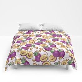 Romantic plum pattern Comforters