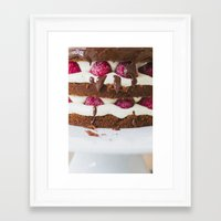 cake Framed Art Prints featuring Cake by Jovana Rikalo