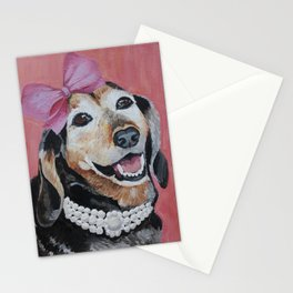 All Dolled Up Dachshund Stationery Cards
