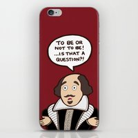 shakespeare iPhone & iPod Skins featuring Shakespeare by evannave