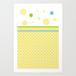Yellow, With Dots Art Print