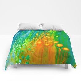 Aqua orange Comforters