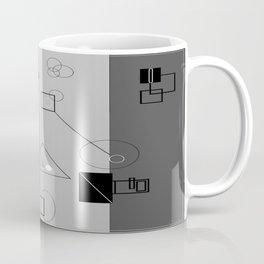 Gray Geometry 3 Coffee Mug