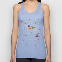Fashionable mermaid - yellow-orange Unisex Tank Top