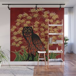 Owl Tapestry Wall Mural