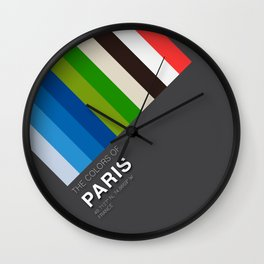 Colors of Paris Wall Clock