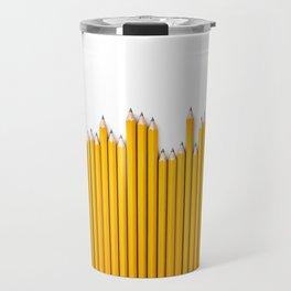 Pencil row / 3D render of very long pencils Travel Mug