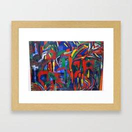 acrylic abstract  Framed Art Print