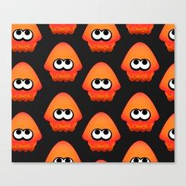Splatoon Squid Pattern Orange Canvas Print