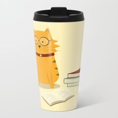 Nerdy Cat Metal Travel Mug