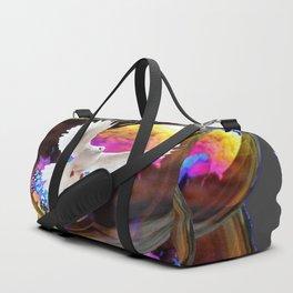 SURREAL WHITE DOVES & IRIDESCENT  SOAP BUBBLES Duffle Bag