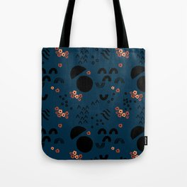Floral Moonscape Tote Bag