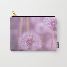 Romantik pink dandelion flower meadow Carry-All Pouch