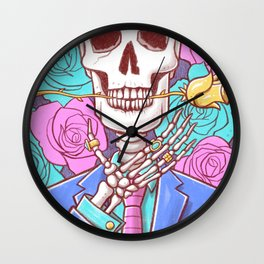 The Death of Art Wall Clock