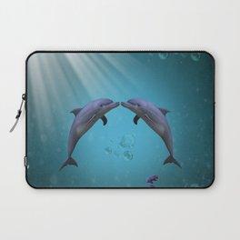 dolphins love Laptop Sleeve