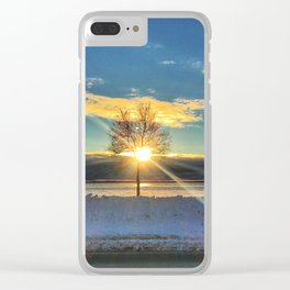 Solo Tree Sunset Clear iPhone Case