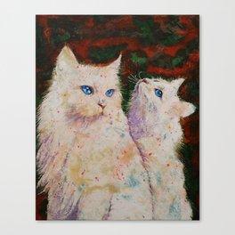 White Cats Canvas Print