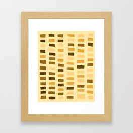 Painted Color Block Rectangles in Yellow Framed Art Print