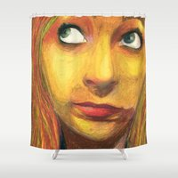 laura palmer Shower Curtains featuring LAURA by trallalaura