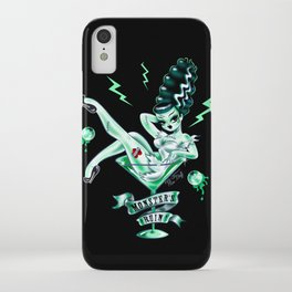 Bride of Frankenstein in a Martini Glass iPhone Case
