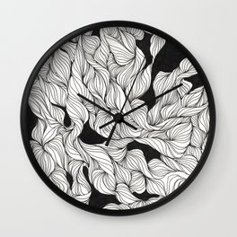 Abstract curlicues Wall Clock