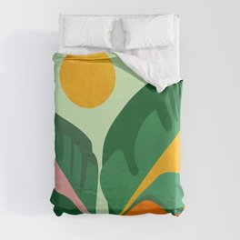 Things Are Looking Up / Tropical Greenery Duvet Cover