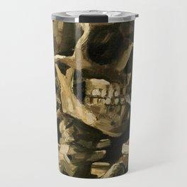 Skull Of A Skeleton With Burning Cigarette Travel Mug