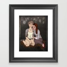 Red & White Framed Art Print