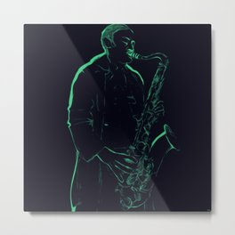 Neon Blues Metal Print