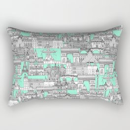 Paris toile aquamarine Rectangular Pillow