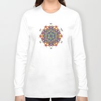 sacred geometry Long Sleeve T-shirts featuring Sacred Geometry Spacecraft Mandala by Jam.