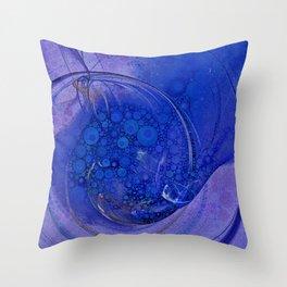 Blueberry Swirl Throw Pillow
