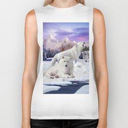 Snow Wolves of the Wilderness Biker Tank
