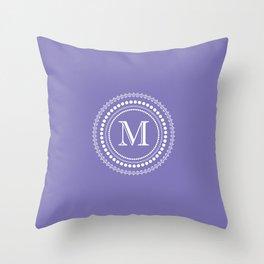 The Circle of  M Throw Pillow