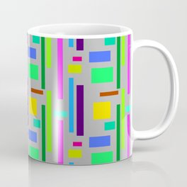 Unisex pattern with vibrant Colours in squares and rectangles. Coffee Mug